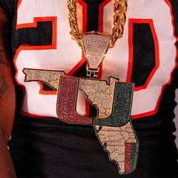 4,000 Sapphires Sparkle in 2020 Edition of Miami Hurricanes' 'Turnover Chain'